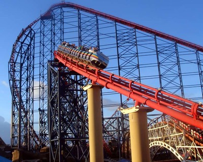 Blackpool Pleasure Beach - The Pepsi max Big One